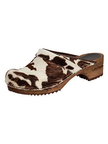 Sanita Damen Caroline Open Clogs, Mehrfarbig (Brown Cow 3), 38