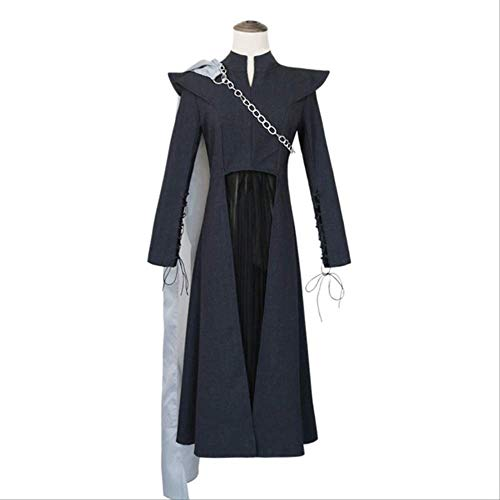 Juego de Tronos Temporada 7 Cosplay Daenerys Targaryen Disfraz de fantasa para mujer adulta Traje Cosplay Disfraz Halloween M Negro