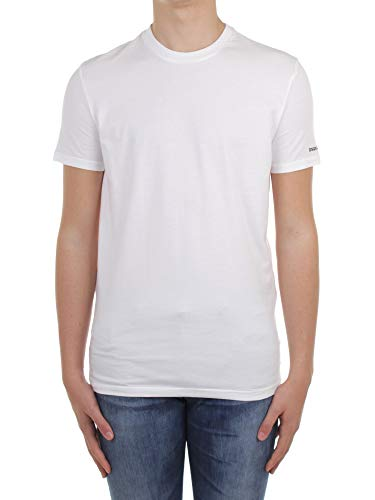 DSQUARED2 D9M203540 T-Shirt Manica Corta Uomo Bianco L