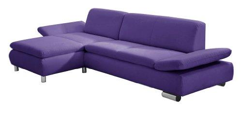 Max Winzer 2871-813-1643751 2,5-Sitzer Sofa, Longchair links Tournai, Strukturgewebe, lila