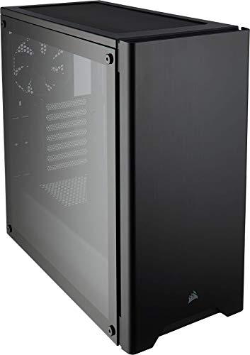 Corsair Carbide Series 275R Gaming-PC-Gehäuse (ATX Mid-Tower mit gehärtetem Glas window, Seitliches Sichtfenster, klaren Innenlayout und vielseitigen kühloptionen) schwarz