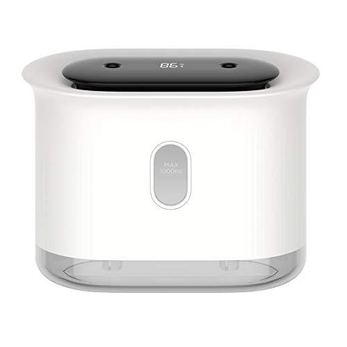 TOOGOO Humidificador de Aire de Escritorio 1L, USB Humidificadores de Doble PulverizacióN PortáTiles EléCtricos Atomizador de Niebla Purificador Difusor de Aceite, Blanco