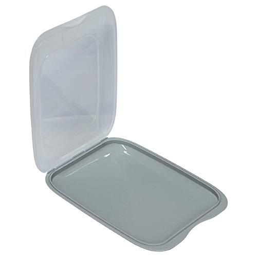 Hochwertige stapelbare Aufschnitt Box Frischhaltedose mit Deckel Wurstbehälter Vorratsdose aus Kunststoff Grau