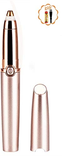 Eléctrica Depiladora Cejas - Afeitadora de Cejas Recortador Flawless Recortador de Fello de Cejas Sin Dolor para Mujer Depiladora de Cejas Rápida y Segura con Luz LED(Batería incluida)