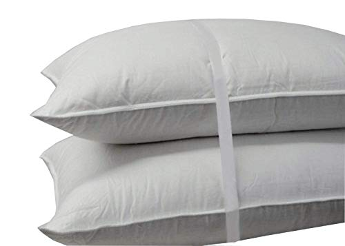 Royal Hotel Down Pillow - 500 Thread Count 100% Cotton, Down, King Size, Firm, Set of 2