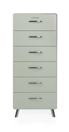 Tenzo 4916-076 Cobra Designer Kommode Holz, pastellgrün, 43 x 56 x 130 cm