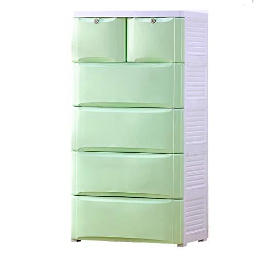 Armoires de Rangement boîte de Rangement boîte de Rangement en Plastique Domestique de Rangement à tiroir de Rangement Multicouche (Color : Green)
