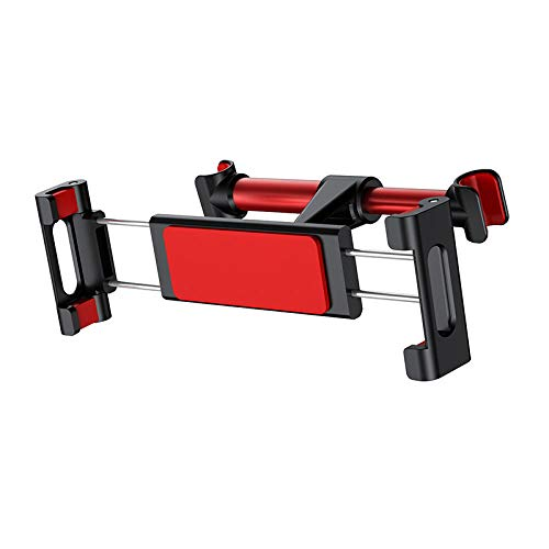 GLYYR Car Back Seat Headrest Mount Holder For Pad 4.7-12.9 inch 360 Rotation Universal Tablet PC Auto Car Phone Holder Stand-Red