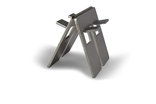 Grillrost.com Das Original - Grillgestelle in Silber, Größe Q100/Q200 Adapterklammer