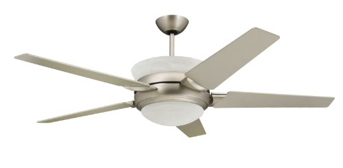TroposAir Sunrise Modern Ceiling Fan in Satin Steel with...
