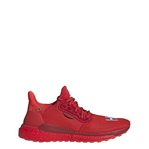 adidas Pharrell Williams PW Solarhu Gryscale - Zapatillas de deporte, color Rojo, talla 44 2/3 EU