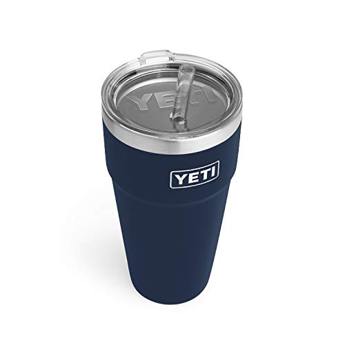 YETI Rambler 26 oz Straw Cup, Vacuum Insulated, Stainless Steel with...