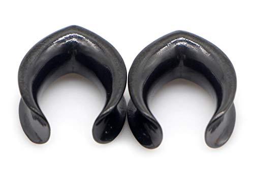 Homeilteds 2pcs De 6 Mm De 30 Mm De Agua Brillante Colocar Ear Plugs De Acero Inoxidable Túneles del Ampliador del Oído De Una Silla De Medidores Piercings De Oreja Plugs