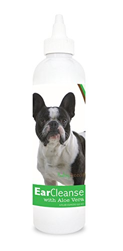 Healthy Breeds Dog Ear Cleansing Drops for French Bulldog - OVER 200 BREEDS - Vet Recommended Formula - Easier Than Wipes & Pads - Cucumber Melon 8 oz