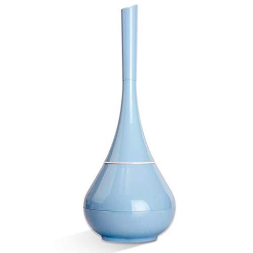 Toilet Brush Cepillo de Inodoro con Soporte Juego de escobillas de Inodoro Cerrado Mango de Madera Base pl/ástica 9.3cm 35.5cm Blanco