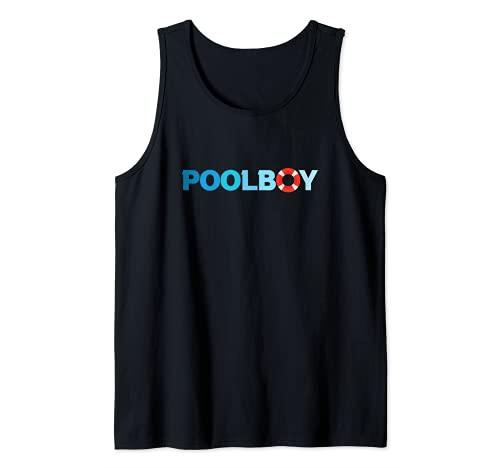 Poolboy Socorrista Supervisor de Piscina Caballeros Camiseta sin Mangas