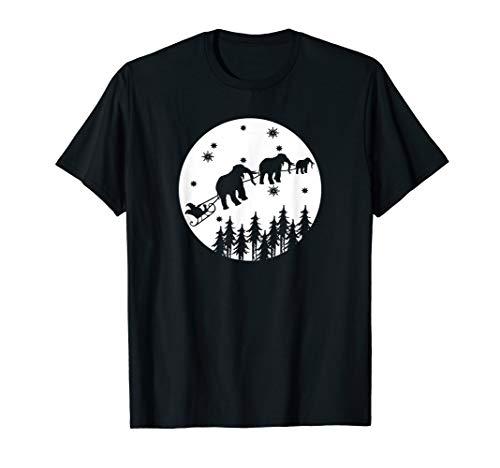 Witzig Nikolausschlitten mit Tieren Zoo Geschenk Zootiere T-Shirt