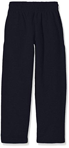 Fruit of the Loom Open Hem Lightweight Pantalon de Sport, Bleu Marine foncé, 14-15 Ans Mixte Enfant