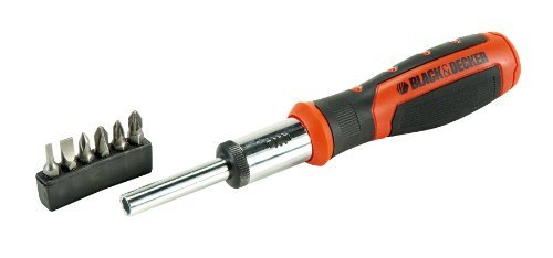 Black+Decker BDHT0-62129 BDHT0-62129-Destornillador de carraca con 6 multipuntas...