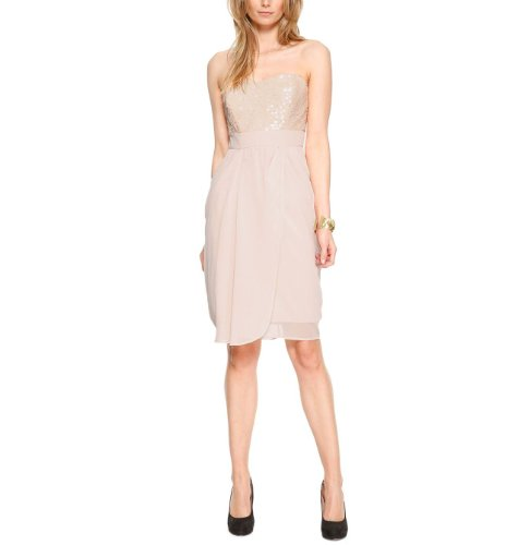 s.Oliver BLACK LABEL Damen Kleid, 06.402.82.3153 Einfarbig, GR. 44 (44), Orange (Orange)
