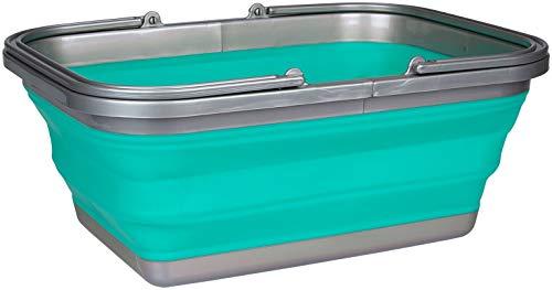 Abbey Camp 21WM faltbar Waschen Badewanne Einheitsgröße grün/grau