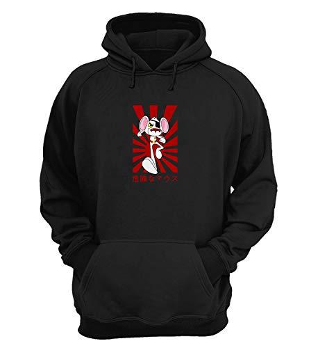 Danger Mouse Pirate Eye Japan Attack_KK018720 Hoodie Capucha Suéter Sweatshirt Divertido Funny Unisex Cotton - Black