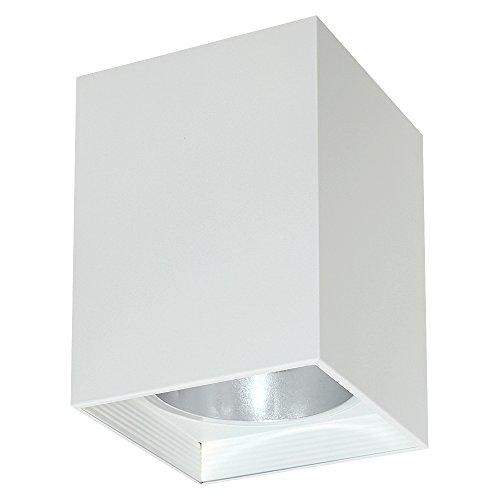 Elegante Deckenleuchte in Weiß Bauhausstil 1x E27 bis zu 60 Watt 230V aus Metall & Flur Küche Esszimmer Lampe Leuchten Beleuchtung