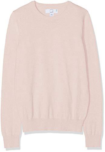 Amazon-Marke: MERAKI Baumwoll-Pullover Damen mit Rundhals, Rosa (Pale Pink), 38, Label: M