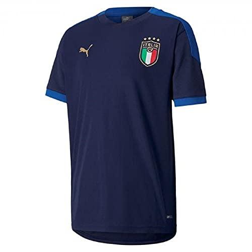 PUMA FIGC Training Jersey Jr, Maglietta Bambino, Peacoat/Team Power Blue, 176