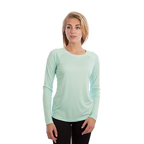 Vapor Apparel Damen Atmungsaktives UPF 50+ UV Sonnenschutz Langarm Funktions T-Shirt XX-L Seegras