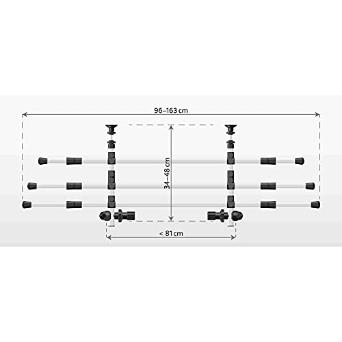 Trixie 13171 - Griglia per auto, Alluminio, Argento/Nero, Larghezza: 96–163 cm Altezza: 34–48 cm