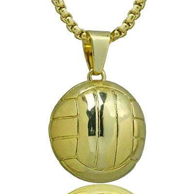 PPuujia Collar con colgante vibrante para baloncesto, fútbol, voleibol, collar de acero inoxidable, accesorio de joyería (color metal: 5)