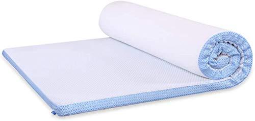HKX Colchón de Espuma viscoelástica para el Suelo, colchón para futón, Cama Queen Size-A 90x190cm (35x75inch)