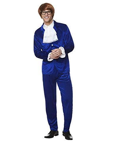 Karnival 82239 1960 Mr Mojo - Disfraz para hombre, color azul, tamaño mediano