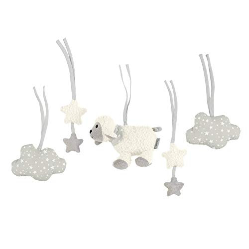Sterntaler Figurines À Accrocher À l'Archet en Bois Star, Mouton Stanley, Beige/Gris