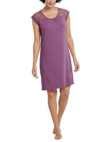 Schiesser Damen Sleepshirt 0/0 Arm, 90Cm Nachthemd, Rot (Beere 512), 42