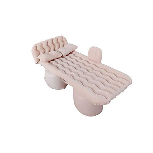 LXUXZ Cama Inflable Coche ,Colchón del Asiento Trasero del Coche,Cama De Aire para Descansar Dormir Viajar Acampar (Color : Beige, Size : 135x70cm)