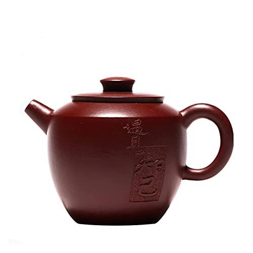 Tetera Yixing Boutique Tetera de Arcilla púrpura Mineral Crudo Zhu Mud Tetera Tradicional Tetera de Belleza Hecha a Mano Juego de té 210ml