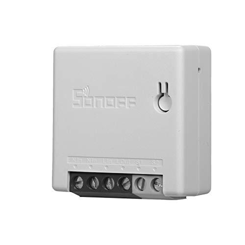 SONOF MINIR2 WiFi Schalter, DIY Alexa Smart Switch Haushaltsgerät Fernbedienung, Sprachsteuerung Funktioniert mit Alexa Google Home
