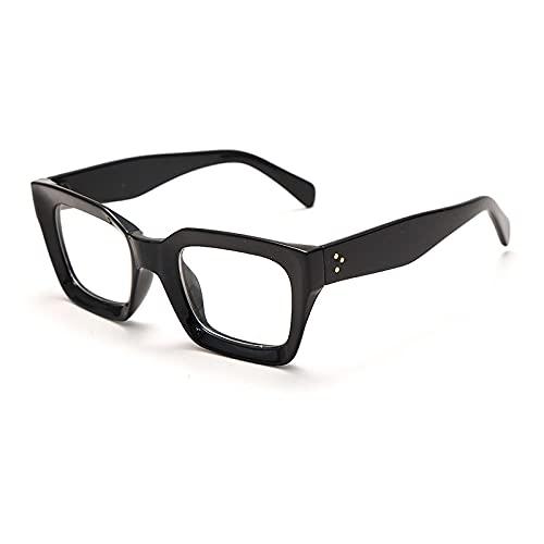 Powzz ornament Monturas de gafas ópticas cuadradas para mujer, montura de miopía de lujo, gafas graduadas para mujer, lentes transparentes clásicas para mujer-1_China