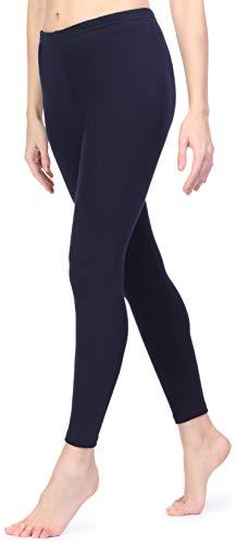 Ladeheid Leggings Interieur en Polaire Vêtement Hiver Femme LAMA06 (Bleu Foncé, 2XL/3XL)