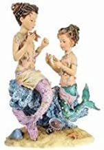 Iron Whole House Worlds Seashell Sculptures on Display Stand Set of 3 Maritime Decoration Mango Wood Height 26-36 cm Materials: Aluminium