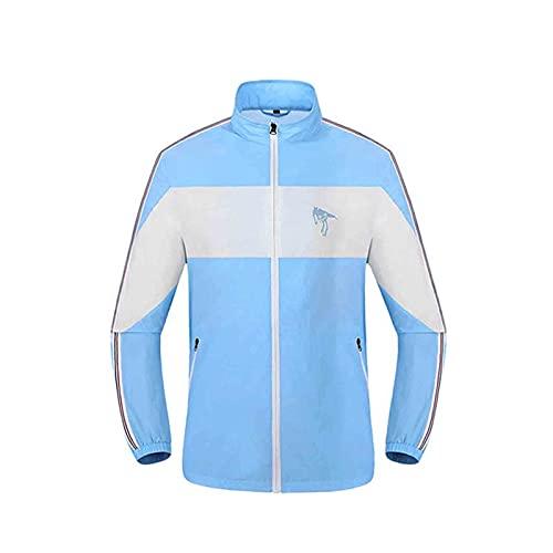 Veste de Vêtements de Climatisation Ventilateur Respirant Polyester USB Extérieur,Blue,3XL