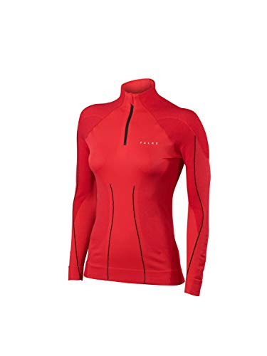 Falke Winter Pullover Ida Warm Women offwhite-Black (Taille Cadre: S) sous vêtement Thermique Medium Rouge - Rouge