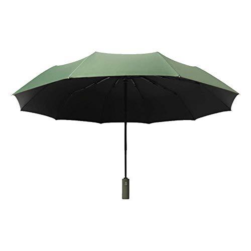 Paraguas automático de Tres Plegables para Hombres y Mujeres Paraguas de Negocios