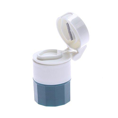 TXIN Multifunktion Rund Pille Schneider Brecher Tablette Medizin Trenner Schleifer Vorratsbehälter (grün)