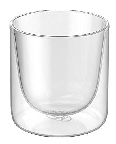 alfi 2420.001.000 Doppelwandglas glasMotion, Borosilikat-Glas S 80 ml - 2er Set Isolierglas, Espressotasse