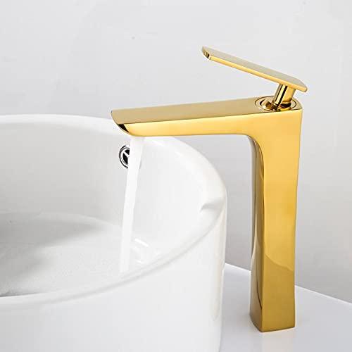 Grifos Cocina Fregadero Baratos Grifos de barra Grifo de lavabo Grifo de cascada dorado y blanco Grifo de baño de latón Grifo de lavabo de baño Grifo de fregadero frío y caliente