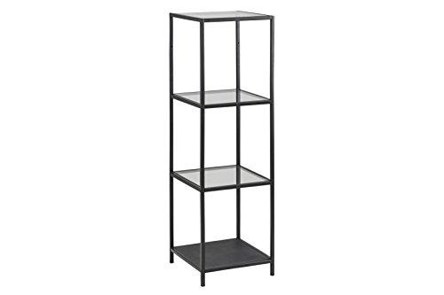 AC Design Furniture Regal Jörn, B: 35 x T:37 x H: 119,5 cm, Metall, Schwarz