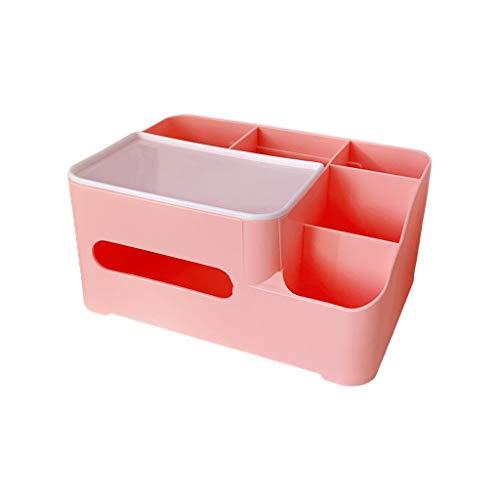 Multifunción de plástico con organizador de almacenamiento, organizador de escritorio, rollo de papel higiénico, soporte de maquillaje, almacenamiento de cosméticos para el hogar